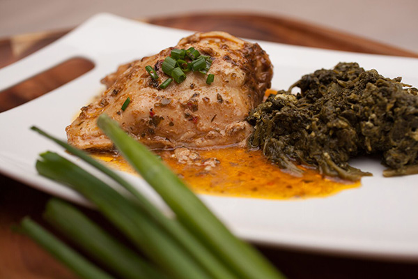 Italian Marinated Chicken with Spinach